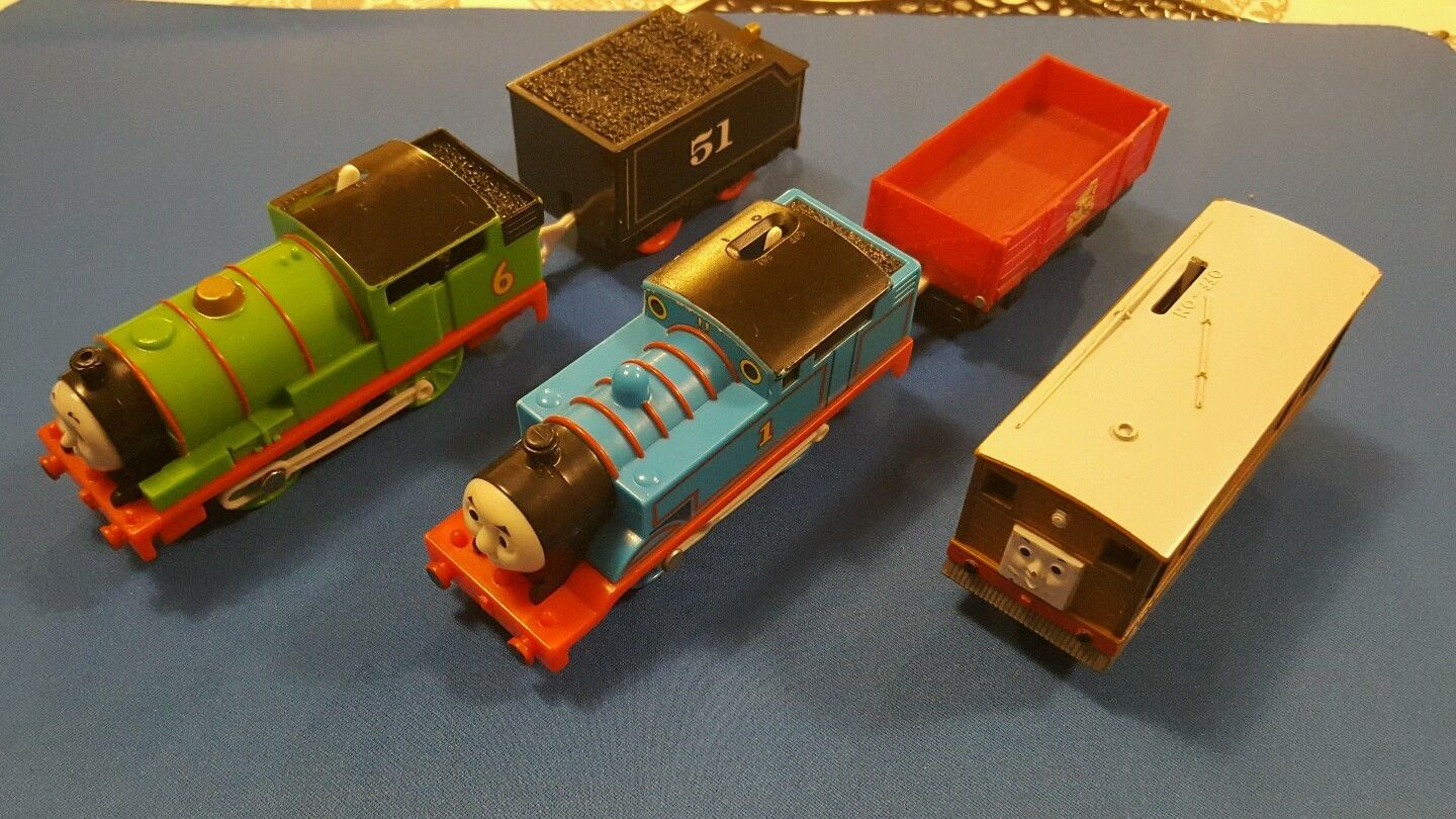 Thomas & Friends Trackmaster Train Thomas  Percy Toby (Britt) Engine Motorized