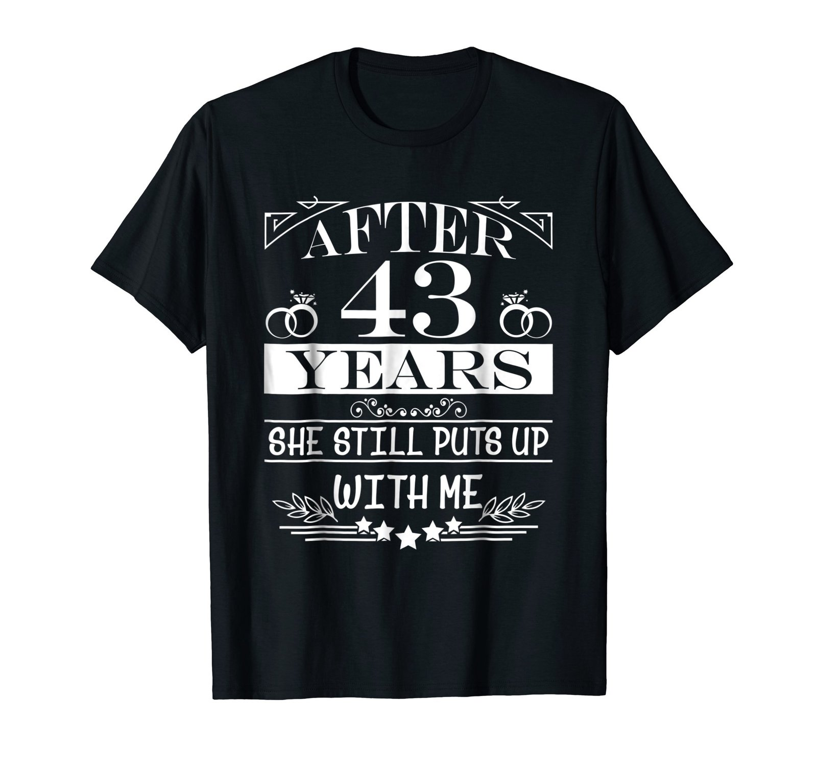 43rd Wedding Anniversary Gifts: 43rd Wedding Anniversary Gifts For HimHusband Couple Shirt