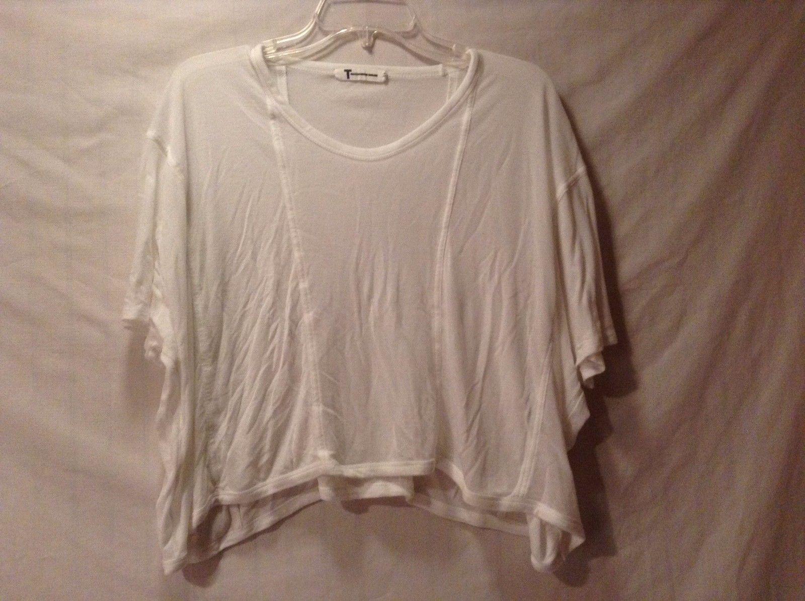 Great Condition T Alexander Wang White Sheer Shirt