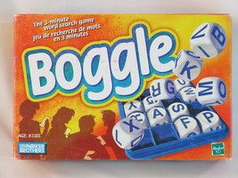 BOGGLE 3 MINUTE Word Game 2005 Hasbro Parker Brothers Complete Bilingual - $18.69