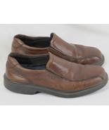 ECCO Brown Leather Loafer Shoes Men's 7.5 D US Excellent EUR 41 Thailand - $24.63