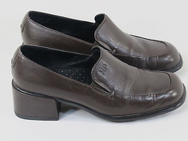 Hush Puppies Soft Flex Brown Leather Loafer Shoes Size 6 US Near Mint Co... - £11.91 GBP