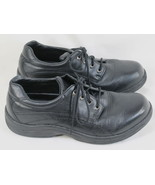 P W Minor Black Leather Oxford Shoes Men's Size 7.5 W US Excellent Condi... - $24.63