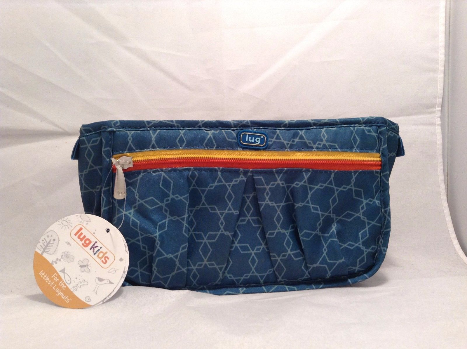 New With Tags NWT Lug Kids Ocean Blue Toiletry Pouch Geometric Design