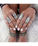 Bohemian Tibetan 4 Piece Ring Set - $15.00