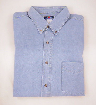Jerzees XL Denim Shirts in Blue NEW