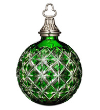 Waterford Emerald Green Cased Ball Ornament 2014 Annual #164579 New In Box - $138.90