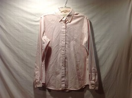 Great Condition Pink White Striped L.L. Bean Button Up 60% Cotton 40% Polyester