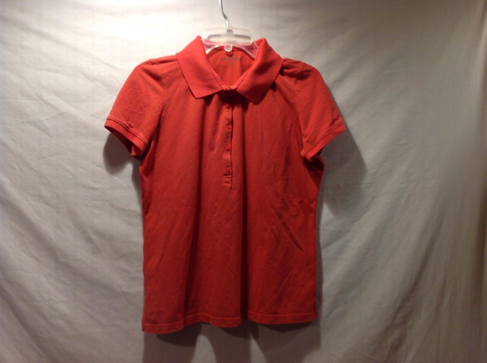 Great Condition Eddie Bauer Polo T-Shirt Red Orange Buttons