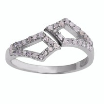 0.304 Carat Diamond Jewelry Solid 925 Sterling Silver Wedding Ring Sz 7 ... - $32.00