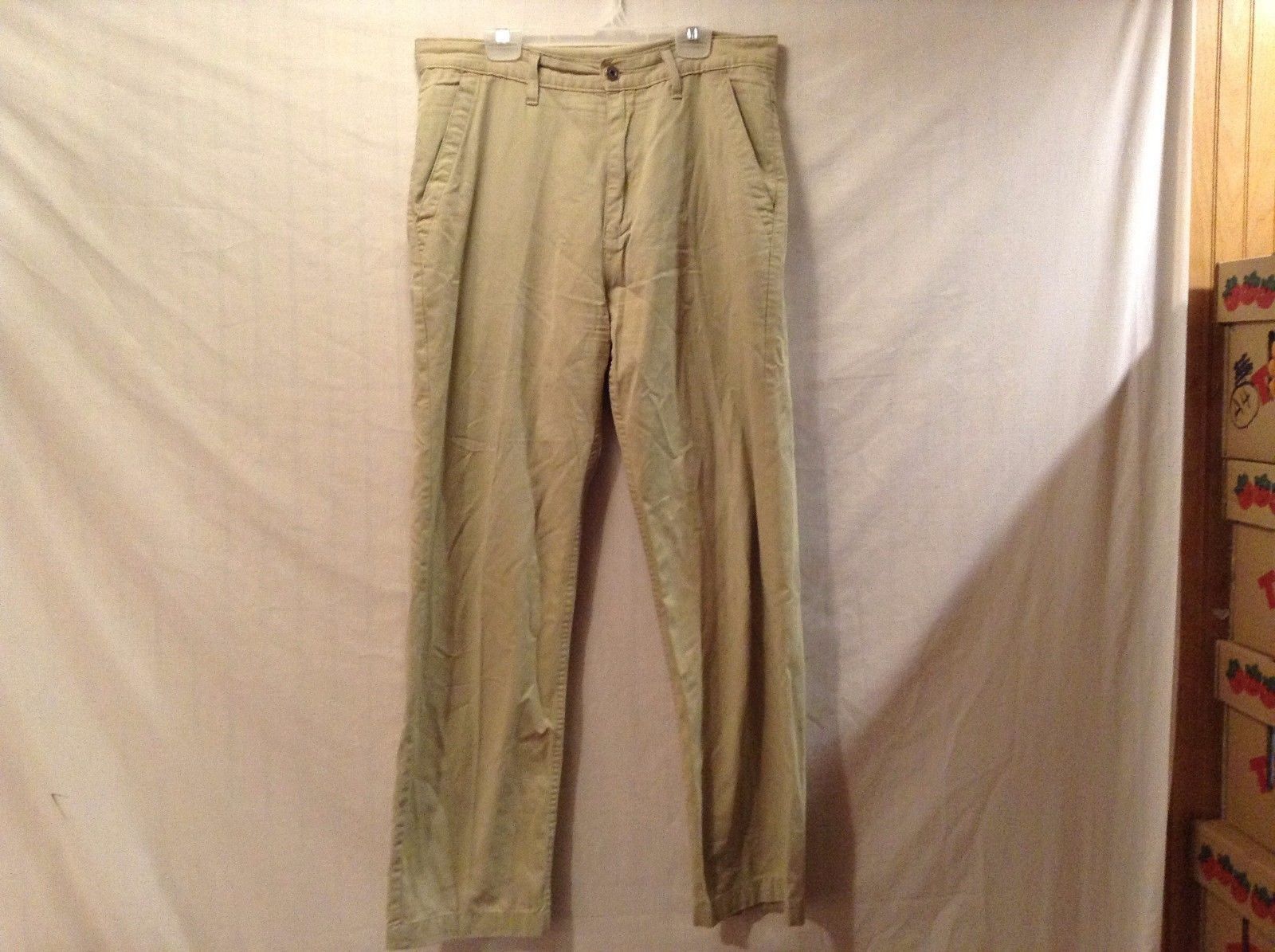 Good Condition Marks & Spencer Light Sand Khaki Pants Made in UK