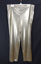 Vintage Lori of California by AM Casuals Shiny Gold Foil Pants - $9.95