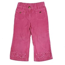 Gymboree Girls Pants 2T Candy Shoppe Pink Corduroy Embroidered Pants Outlet - $10.49