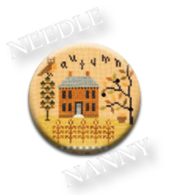 Autumn Needle Nanny needle minder cross stitch Lizzie Kate Quilt Dots  - $12.00