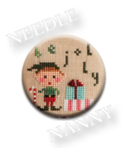 Be Jolly Needle Nanny needle minder cross stitch Lizzie Kate Quilt Dots  - $12.00