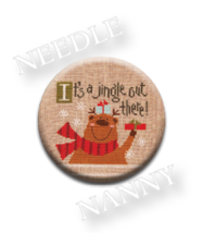 Jingle Needle Nanny needle minder cross stitch Lizzie Kate Quilt Dots  - $12.00