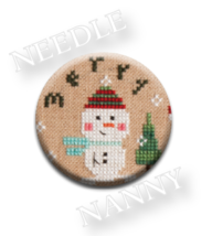 Merry Needle Nanny needle minder cross stitch Lizzie Kate Quilt Dots  - $12.00