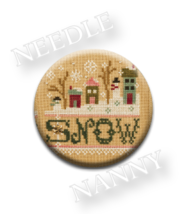 Snow Needle Nanny needle minder cross stitch Lizzie Kate Quilt Dots  - $12.00