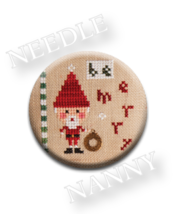 Be Merry Needle Nanny needle minder cross stitch Lizzie Kate Quilt Dots  - $12.00
