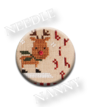 Bright Needle Nanny needle minder cross stitch Lizzie Kate Quilt Dots  - $12.00