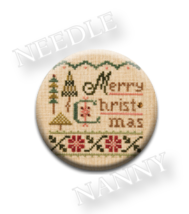 Merry Christmas Needle Nanny needle minder cross stitch Lizzie Kate Quilt Dots  - $12.00