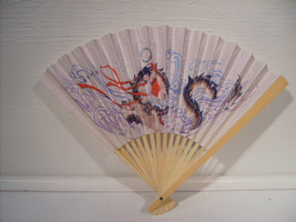 Asian Paper  Hand Folding  Dragon Fan Dragons - $7.99