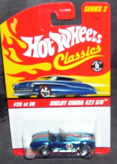 Hot Wheels Classics SHELBY COBRA 427 S/C #20 of 30 BLUE Diecast Series 2