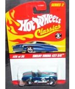 Hot Wheels Classics SHELBY COBRA 427 S/C #20 of 30 BLUE Diecast Series 2 - $12.96