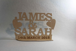 Mr & Mrs Personalized Wood Engraved Wedding  Family Name Anniversary Fre... - $18.25