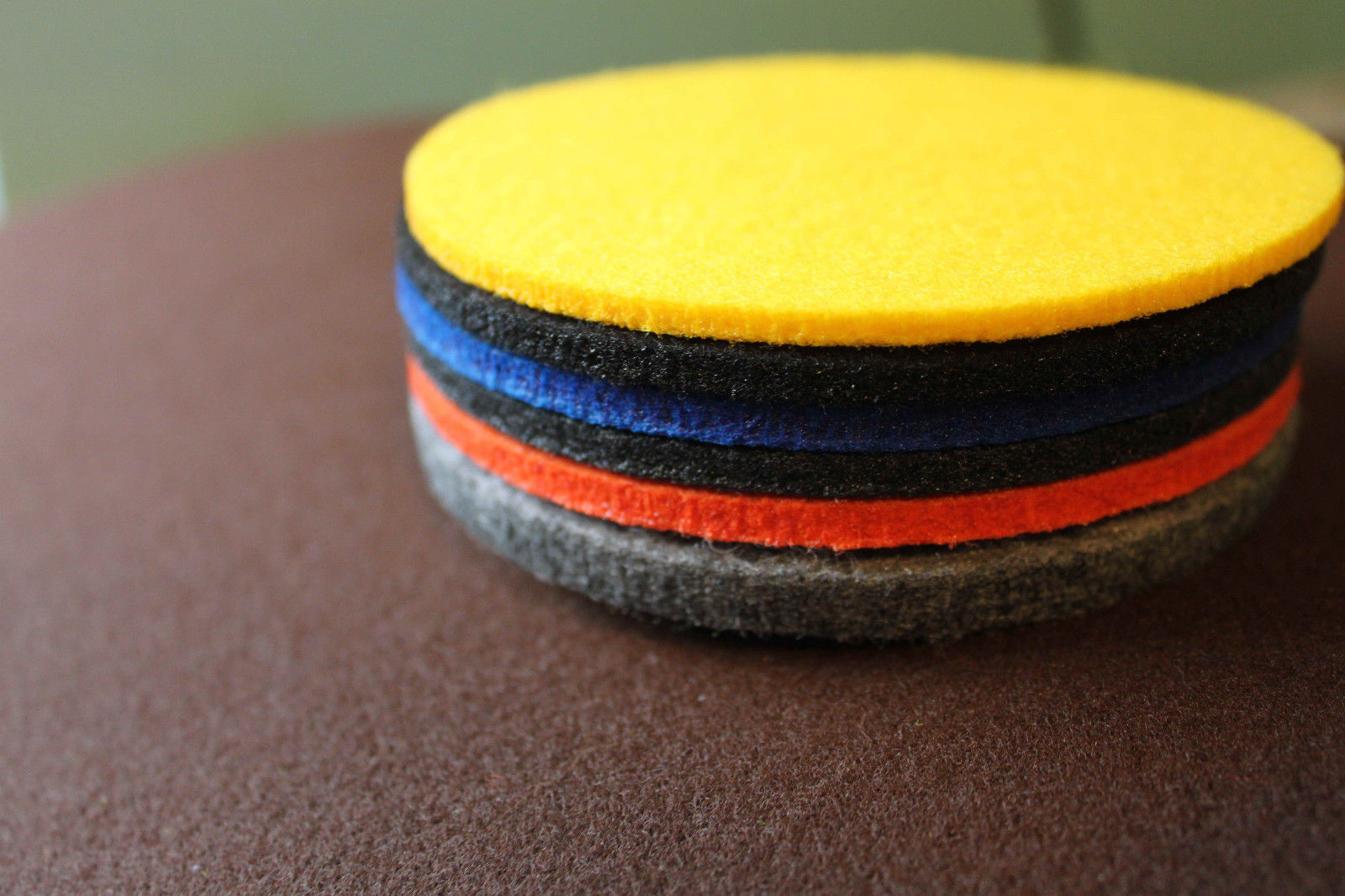 MIX Colour Felt Coasters Simple Shape Circle Set of 10 Handmade Ireland Eire - $14.07