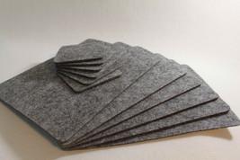 GREY Felt Placemats Simple Shape Rectangle Felt Table Mats Set of 16 Placemats - $31.36