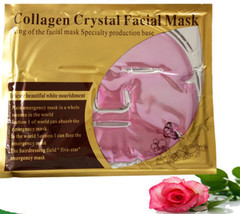 Pink Gold Bio Facial MASK Crystal, colageno mascarilla colageina10, anti-aging - $3.37