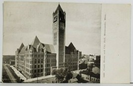 MN Court House and City Hall Minneapolis Early 1900s udb Postcard P1 - $8.95