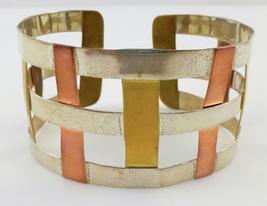 RLM STUDIO Robert Lee Morris Sterling Silver Brass Copper Weave CUFF BRA... - $75.00