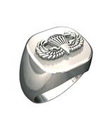 Army Ring - Mens Basic Parachutist Badge Ring - $109.95