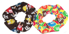 Hair Scrunchie M&M M&M's Candy Fabric Scrunchies by Sherry Ponytail Holders Ties - $6.99