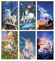 6 Unicorn Magnets - Set C - £14.79 GBP