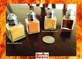 4x Reaper, Red & Yellow Ghost Pepper Aji Amarillo HOT Chili powder shake... - $13.98