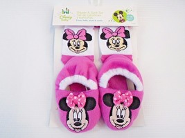 Minnie Mouse Sock & Slippers Set By Regent Baby Products, Disney Cute! - $9.89