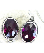 Vintage Style Mozambique Red faceted Garnet Ste... - $79.68