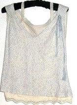 WOMEN'S BLUE PRINTED DOUBLE LOOK TOP/ CAMI/ TANK SIZE L - $5.00
