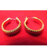 HOOP EARRINGS IN A WHEET STYLE CUT - $5.00
