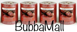 4 X Luminessence Apple Cinnamon Scented Pillar Candles, 2.5 In. X 2.8 In. - $16.82