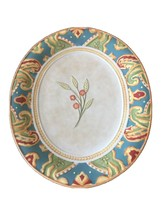 """Fitz and Floyd Carissa Paisley Floral 15"""" Oval Serving Dish Platter Multi-Color - $35.64"""
