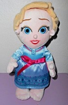 Disney Babies Frozen Elsa Plush Doll Soft Toy No Blanket Disney Parks - $11.33
