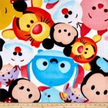 "Disney Tsum Tsum Fleece Baby Blanket Pet Lap 30""x24"" Stitch Piglet Tigge... - $39.95"