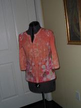 Palm Harbour Knit Shirt Top Size Ps Stretch Orange Floral Print Nwt - $15.89