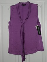 Notations Blouse Silky Size Pxl Light Purple Nwt - $15.79