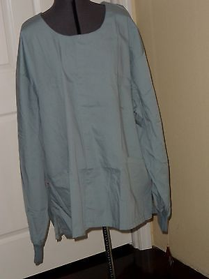 Primary image for DICKIES SCRUB TOP LAB COAT SIZE 3X BLUE LONG SLEEVES NWT