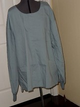 DICKIES SCRUB TOP LAB COAT SIZE 3X BLUE LONG SLEEVES NWT - $19.48